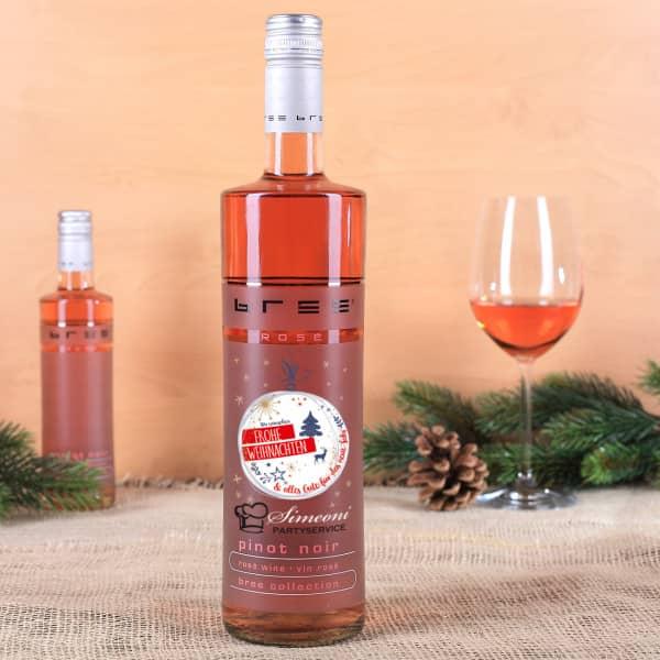 Frohe Weihnachten - Bree Wein mit Firmenlogo