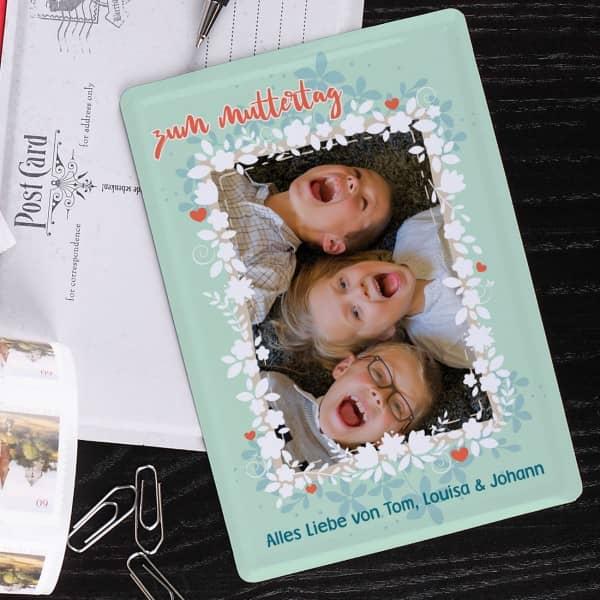 Fotopostkarte Blechkarte Muttertag