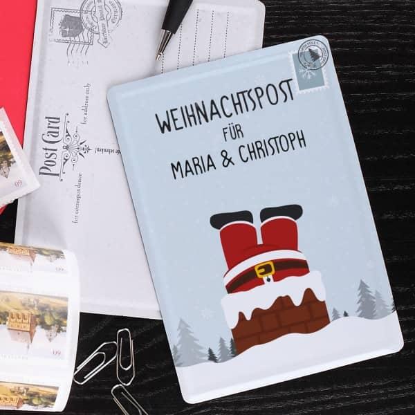 Weihnachtspostkarte mit Weihnachtsmotiv