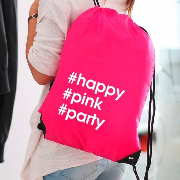 hashtagbag in pink mit eigener message