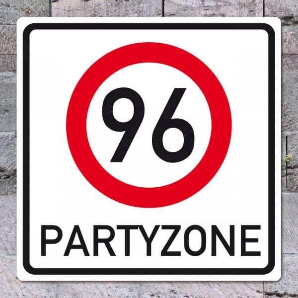 Riesiges PVC Verkehrsschild zum 96. Geburtstag 50cm x 50cm