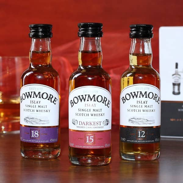 Edler Bowmore Single Malt 3er Set 50ml