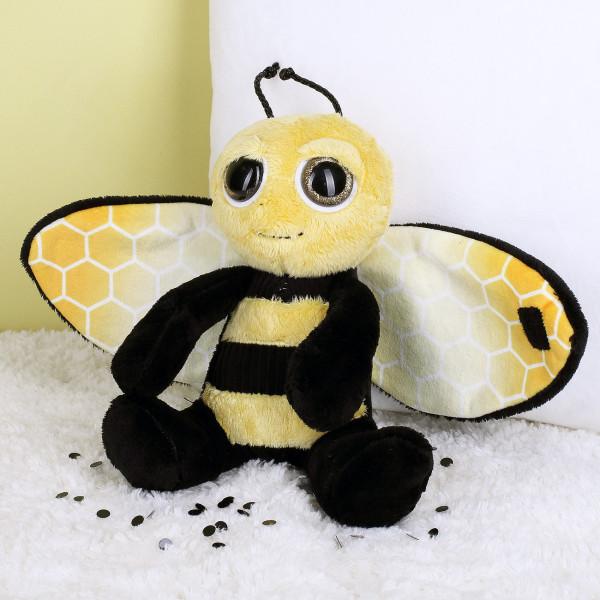 Kuschelige Biene mit Flügeln