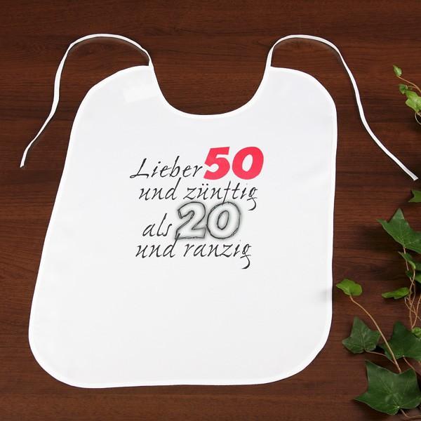 Großer Latz Lieber 50 und zünftig als 20 und ranzig