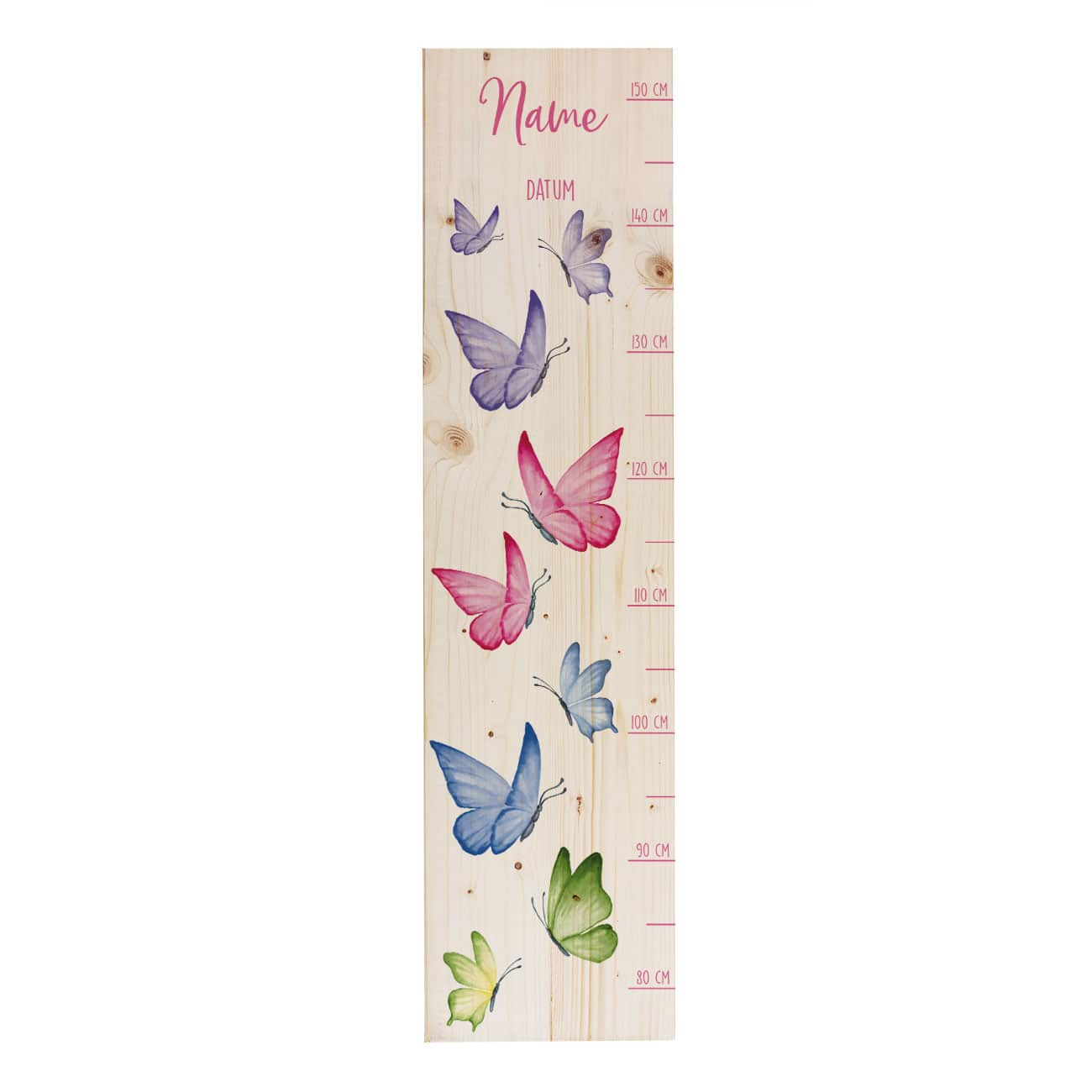 Messlatte für Kinder Schmetterlinge