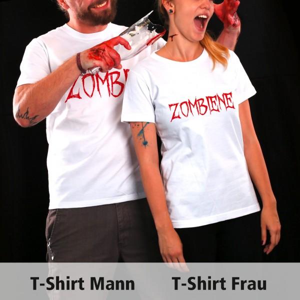Halloween Kostüm für Paare zwei T Shirts mit Aufdruck