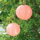 2er-Set Deko-Laternen 30 cm in Orange