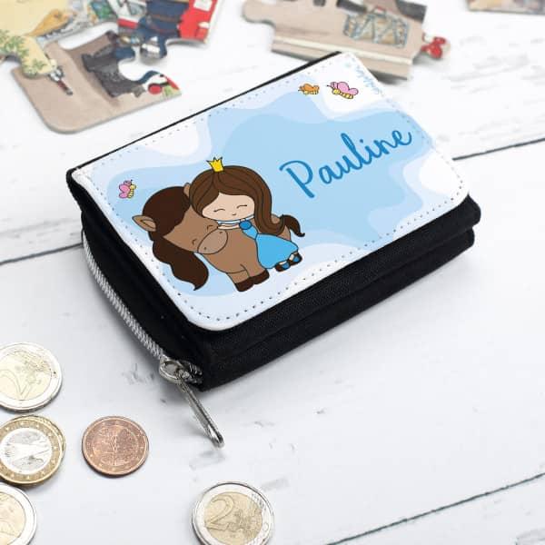 Kindergeldbörse mit Prinzessinnen Motiv und Wunschname