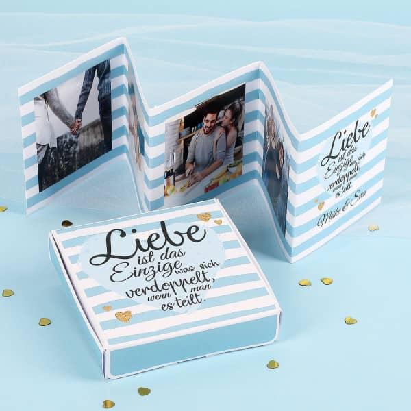 Mini Fotobuch mit Geschenkverpackung