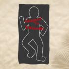XL Strandtuch - Ablageort für - mit Ihrem Wunschnamen und Kreidezeichnung