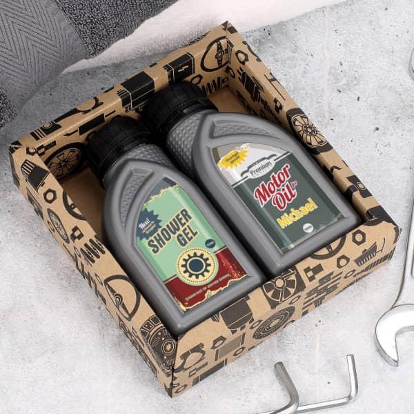 Motoröl Duschgel mit Ihrem Wunschnamen