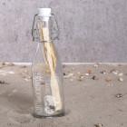 Gravierte Flaschenpost in klein für die Flitterwochen