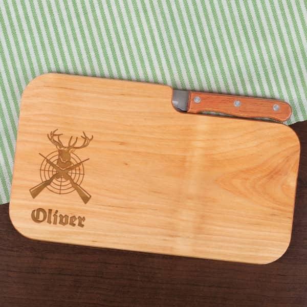 Graviertes Fruhstucksbrettchen Mit Messer Das Perfekte Geschenk