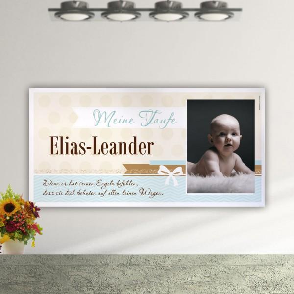 Deko Banner für Ihre Taufe mit Foto und Wunschtext 1,60 x 0,80