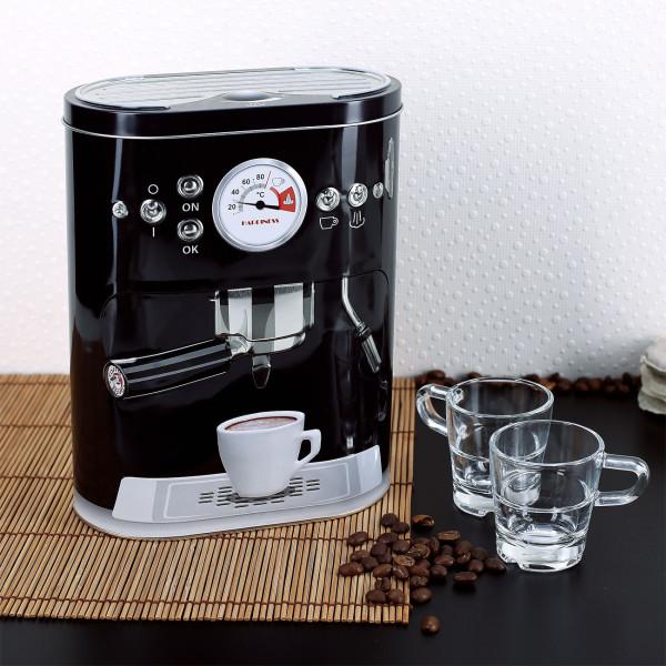 Kaffeedose in schwarz - Espressomaschine