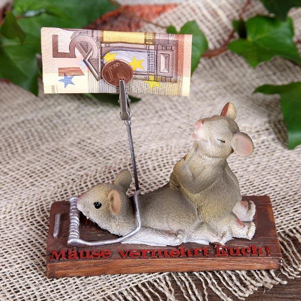 Mäuse in Falle mit Geldclip