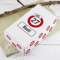 Persönliche Geschenkverpackung Verkehrszeichen