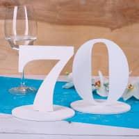 Tischnummer 70 für Geburtstag