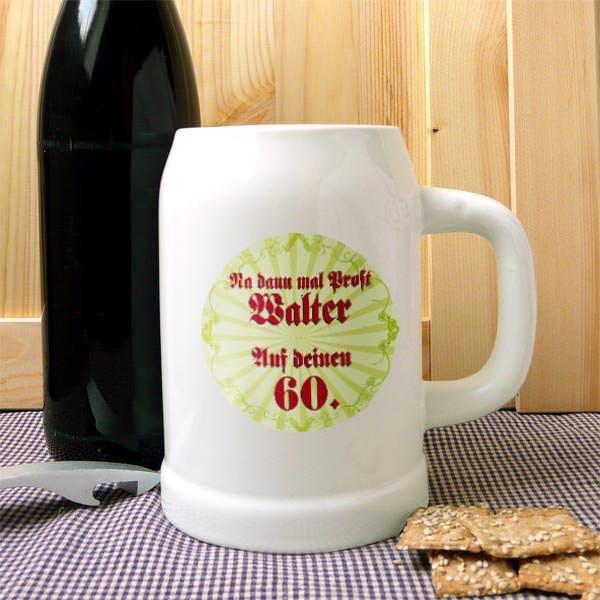 Personalisierter Bierkrug zum Geburtstag