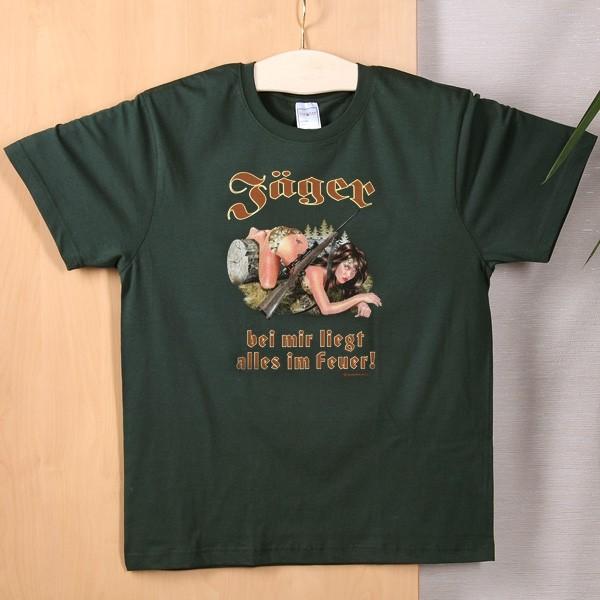 T-Shirt Jäger bei mir liegt alles im Feuer