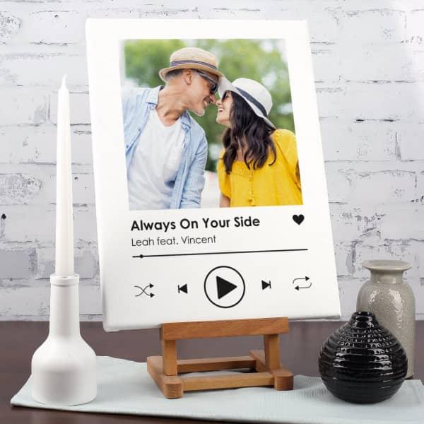 Lieblingssong - Leinwand mit Foto und Ihrem Text 40x30cm