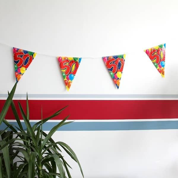 Wimpelkette zum 50. Geburtstag