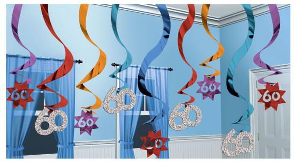 Partydeko zum 60. Geburtstag Dekospirale