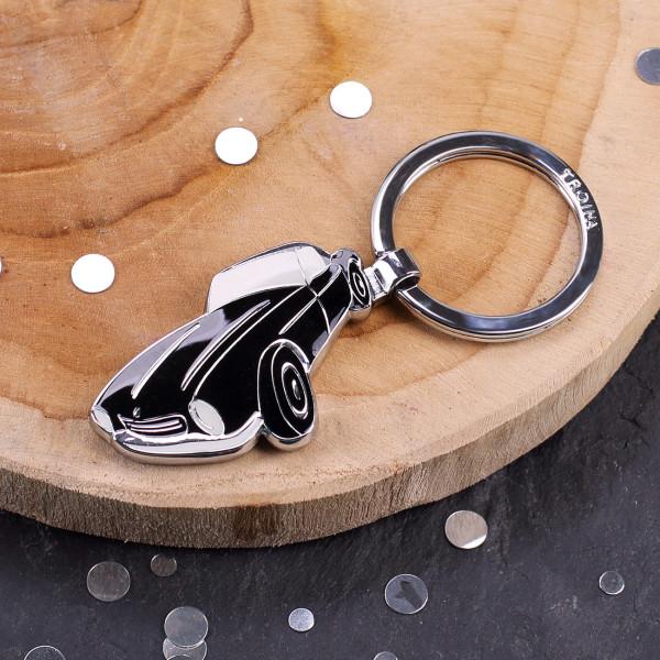 Schlüsselanhänger Sportwagen verchromt
