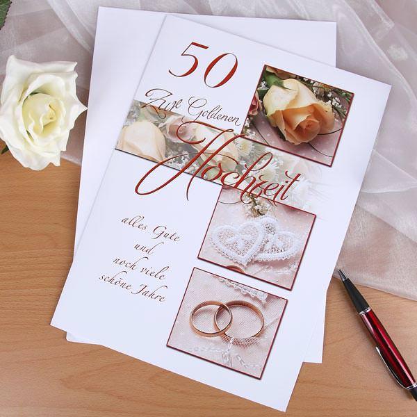 große Glückwunschkarte zur Goldenen Hochzeit