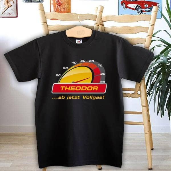 T-Shirt mit Vollgas zum 80. Geburtstag