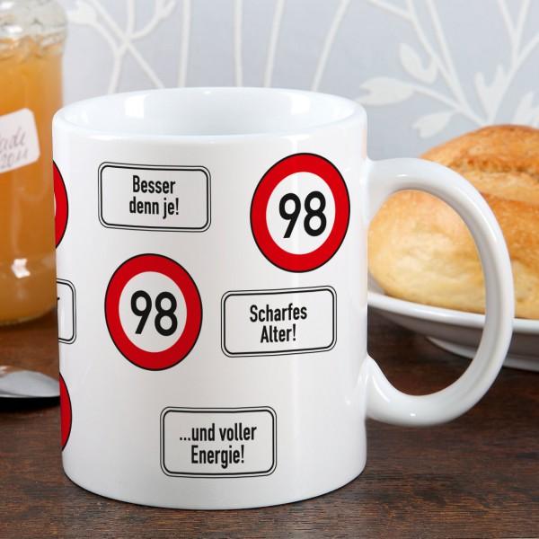Kaffeetasse zum 98. Geburtstag