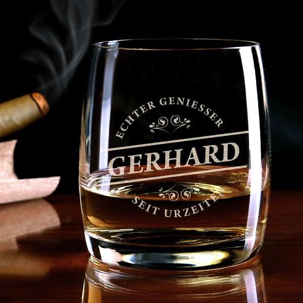 Echter Geniesser Whiskeyglas mit Gravur