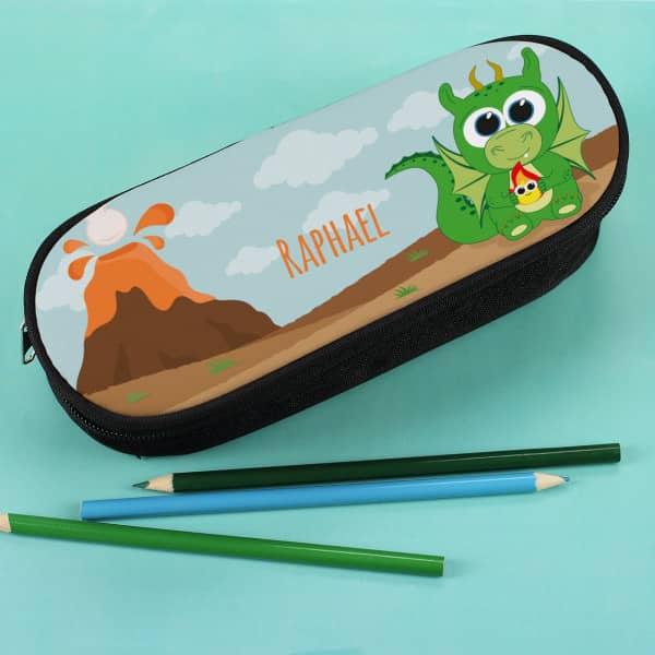Personalisierte Stiftebox für kleine Drachenfans