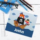 Piraten-Brillenputztuch mit Name