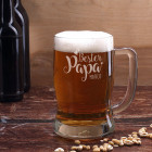 Bierseidel - Bester Papa - mit Wunschname