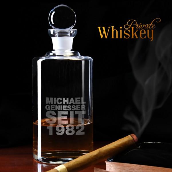 Personalisierte Whiskeykaraffe Motiv Geniesser seit