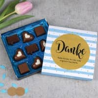 Danke Pralinen mit Ihrem persönlichen Text, 100g Lindt Hello Chocolate Bits