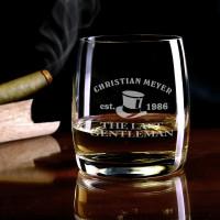 Personalisiertes Whiskey Glas mit Name und Geburtsjahr