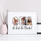 Bilderrahmen - Oma du bist die Beste - mit Ihren Wunschfotos