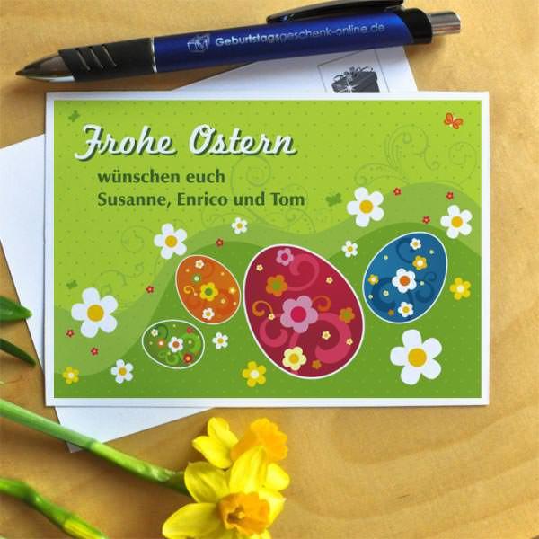 Osterpostkarte mit Ihrem individuellen Text