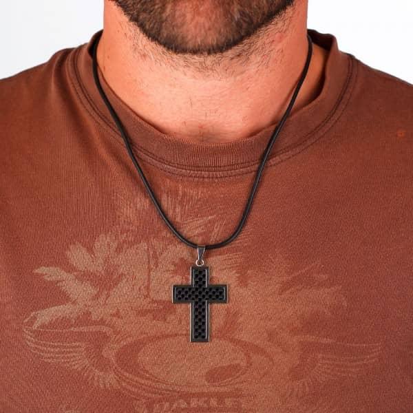 Kreuzkette mit Karboninlay von Stigma