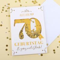 Konfetti-Schüttel-Geburtstagkarte Alles Gute zum 70.