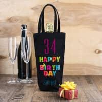 Flaschentasche zum Geburtstag mit Name und Alter