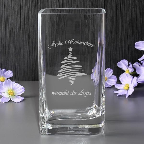 Weihnachtliche Vase von Leonardo mit Wunschtext