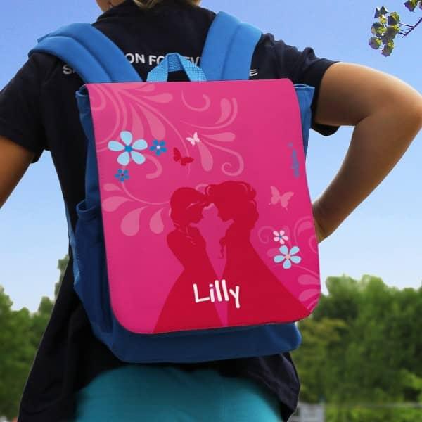 Individuellbabykind - Kinderrucksack mit Prinzessinnen und Name - Onlineshop Geschenke online.de