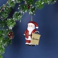 Weihnachtsmann-Anhänger mit Name