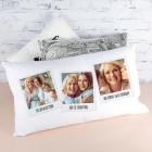 Loungekissen mit Polaroidfotos und Wunschtexten