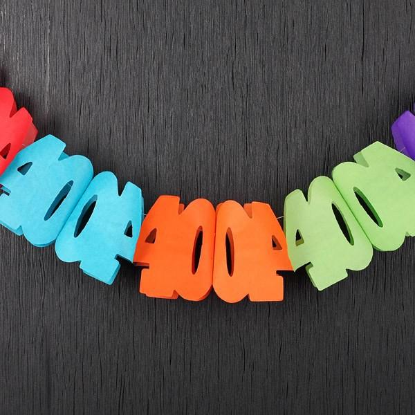 Bunte Papiergirlande zum 40. Geburtstag