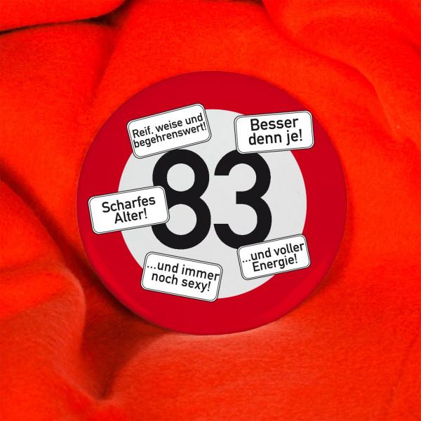 Button zum 83. Geburtstag
