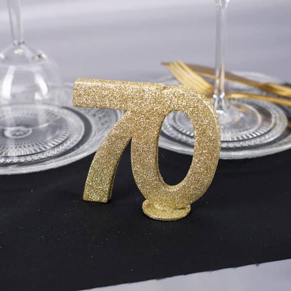 Goldene Dekozahl 70 - zum Geburtstag